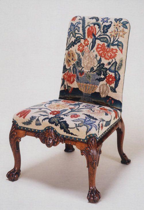 A George Ii Walnut Side Chair