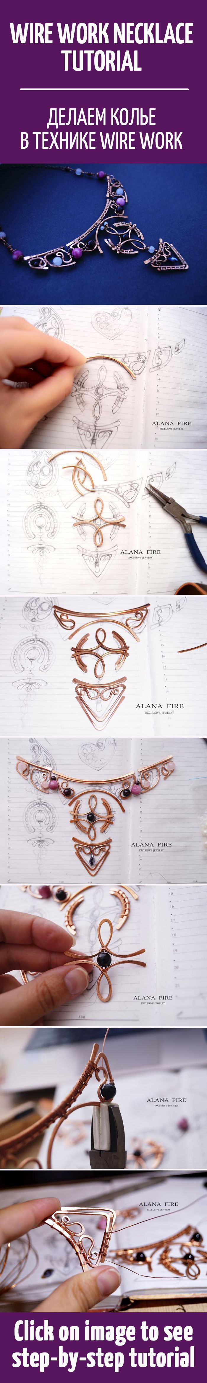 214 best Wire Necklace images on Pinterest