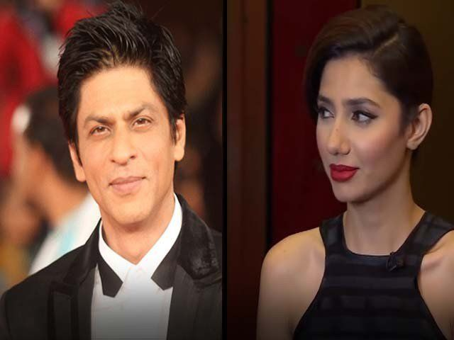 It seems King Khan is strongly attracted to the very gorgeous Mahira