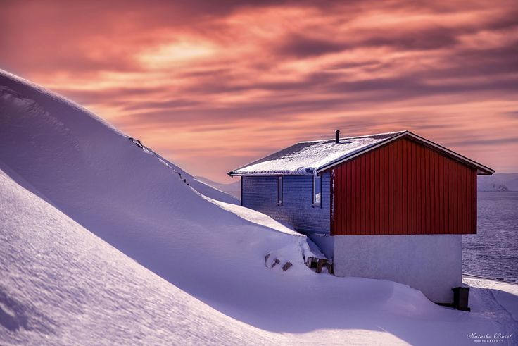 Seasons colliding - Honningsvåg.  The northernmost city of Norway. By Natasha Busel