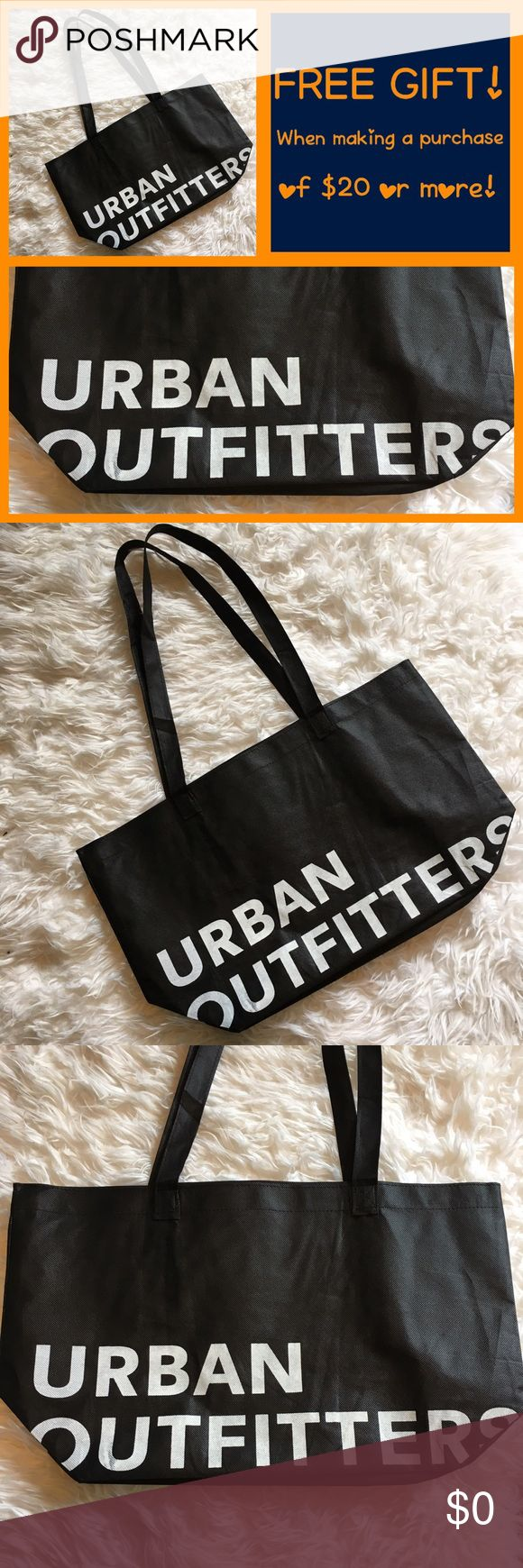 🎁New! Urban Outfitters Black & White Bag🎁 🎁FREE GIFT!🎁 MAKE A PURCHASE OF $20 OR MORE! 🌹name brand: Urban Outfitters. Long straps. Colors: black & white. Super cute! Perfect for tote bag, book bag, beach bag, grocery bag, etc. Urban Outfitters Bags