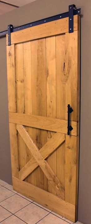 Door of the Day: Rustic White Oak Sliding Track Door.  Size: 1050mmx2032mm  Sliding track doors can be custom made in a variety of exotic timbers.  Rest of photo's Redwood timber.