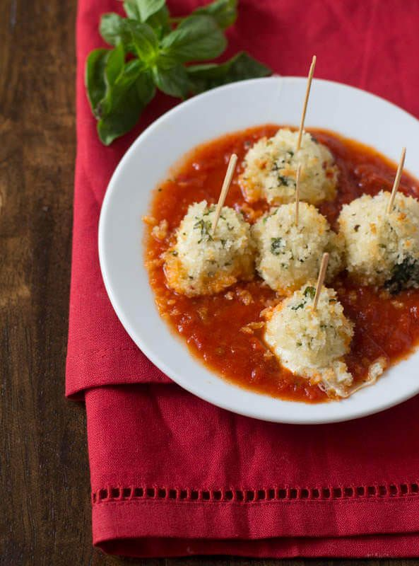 These baked mozzarella bites are better than the fried version and perfect to keep in the freezer for a snack anytime of the day.