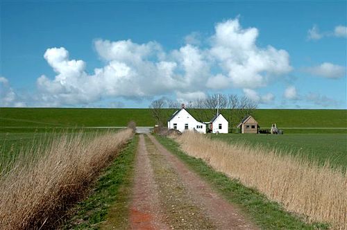 De Westpolder ontstond in 1875 na inpoldering.