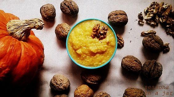 Seasons in a jar: Πουρές κολοκύθας με καρύδια