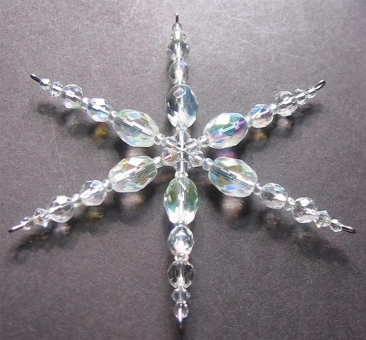 beaded snowflake ornament 3 http www ecrafty