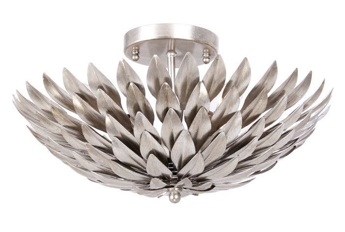 Features:  -Number of Lights: 4.  -Material: Wrought iron.  -Style: Eclectic.  -Interior light.  -Flush mount will work well in a 12 x 18 room.  -Bright enough to read: Yes.  Product Type: -Semi flush