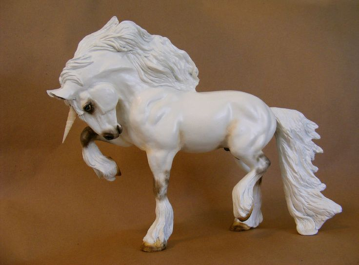 "Custom/Cm Drastic OOAK Fantasy  ""WHITE PEGASUS STALLION""  by PZ14"