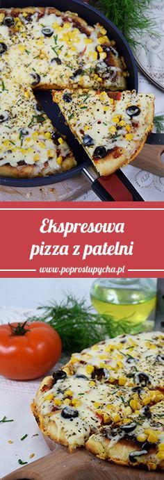 Nie masz czasu na dzisiejszy obiadek? Polecam ekspresową pizzę z patelni :) #poprostupycha #pizza #obiad