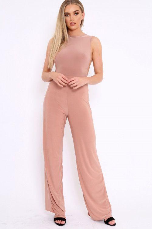 d60194007925 Rose Slinky Low Side Jumpsuit - Ivannah