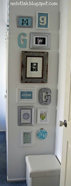 gallery wall. great idea for a small wall you don't know what to do with it. lovely, small and simple.