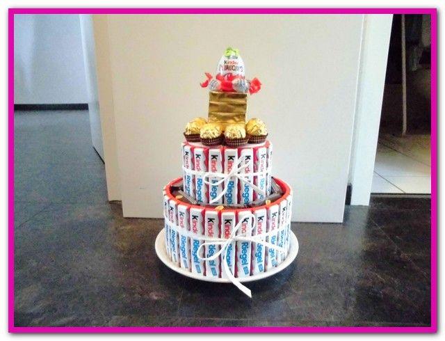 Kinderschokolade Geschenke Basteln Kinderriegel Torte Kinder