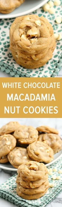 Macadamia Nut White Chocolate Chip Cookies from http://tablefortwoblog ...