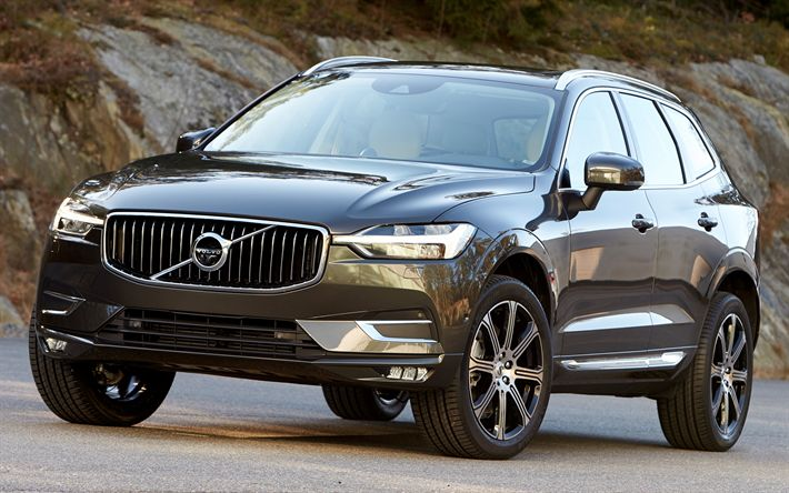 Download wallpapers Volvo XC60, 4k, crossovers, 2018 cars, road, swedish cars, new XC60, Volvo