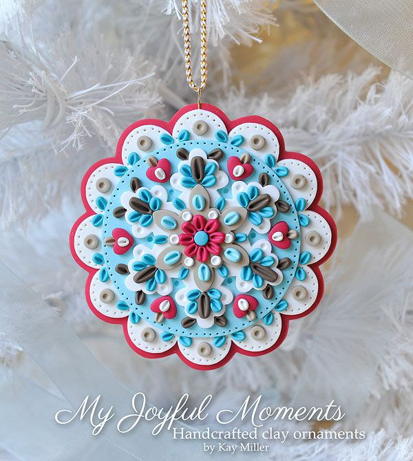 Handcrafted Polymer Clay Ornament par MyJoyfulMoments sur Etsy