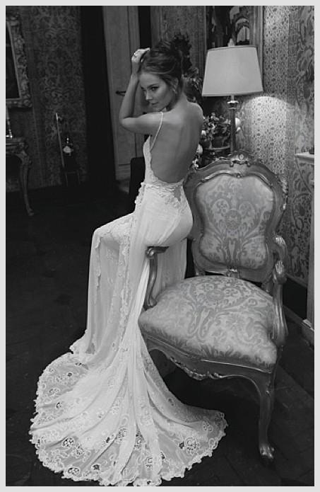 inbal dror bridal gowns   Weddbook ♥ Inbal Dror sexy backless silk wedding dress. Black and ...