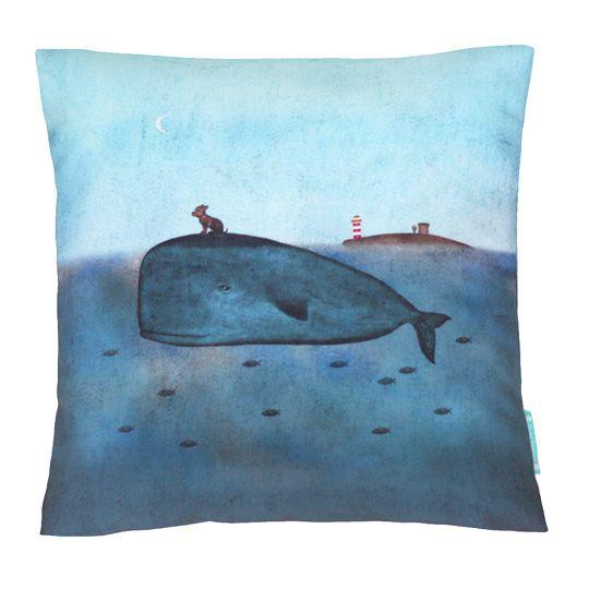 Декоративная подушка 'Кит и собака' pillow