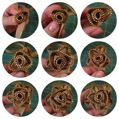 zipper flower - how to