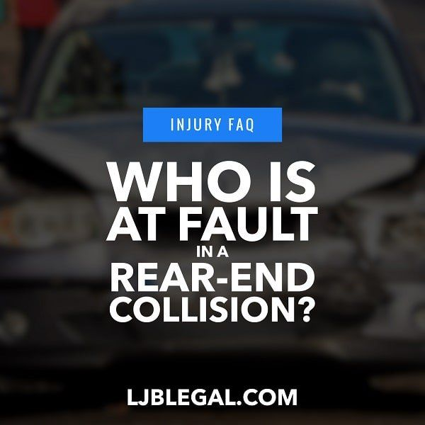 Who Is At Fault In A Rear End Collision In Louisiana Rear Ended Car Accident Lawyer Car Accident