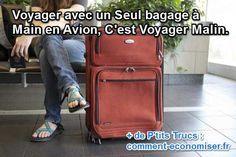 """De plus en plus de compagnies aériennes, surtout """"low cost"""" font désormais payer les bagages en soute. Pour ne pas payer de supplément quand vous prenez l'avion, essayer de partir avec un seul bagage à main bien rempli ! Découvrez l'astuce ici : http://www.comment-economiser.fr/voyagez-avec-un-seul-bagage-a-main-en-avion.html?utm_content=buffer324ba&utm_medium=social&utm_source=pinterest.com&utm_campaign=buffer"""