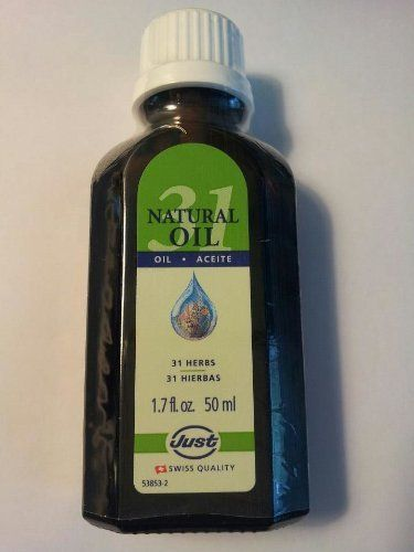 Herbal Oil 31 by Swiss Just. I fell in love with this when I first put it on. It got rid of my neck pain in about 5 minutes. Better than any prescribed medication I have ever used.