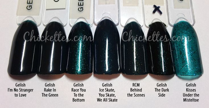 Gelish The Big Chill Collection Swatches & Color Comparisons | Chickettes: Soak-Off Gel Polish Swatches, Nail Art and Tutorials