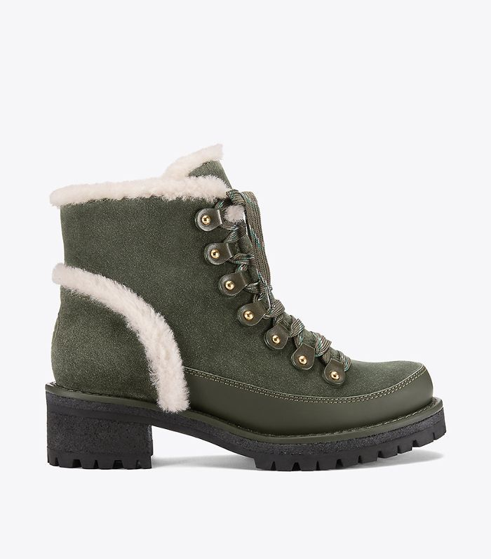 Visit Tory Burch to shop for Cooper Shearling Bootie and more Womens  Booties. Find designer shoes, handbags, clothing & more of this season's  latest styles ...