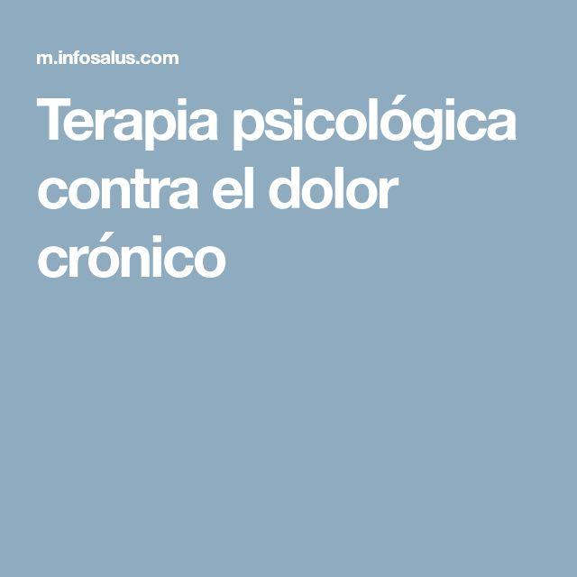 Terapia psicológica contra el dolor crónico