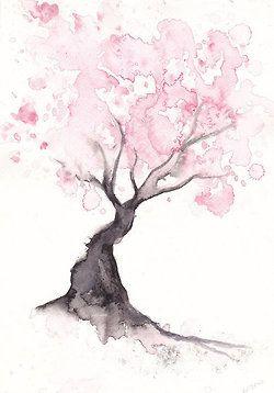 I love watercolors! Tree