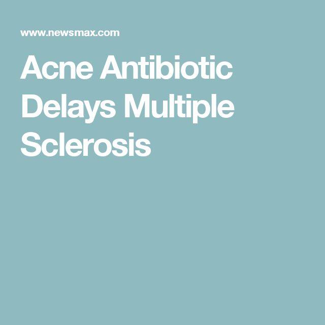 Acne Antibiotic Delays Multiple Sclerosis