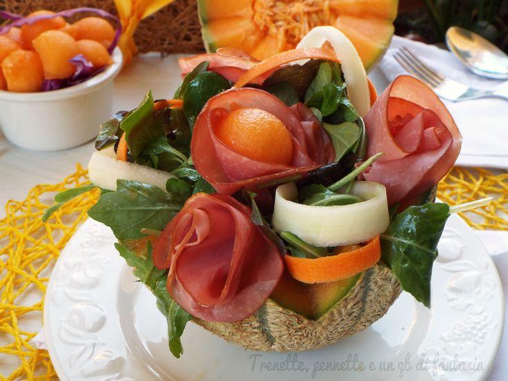 Insalata+sfiziosa+con+melone+e+carpaccio