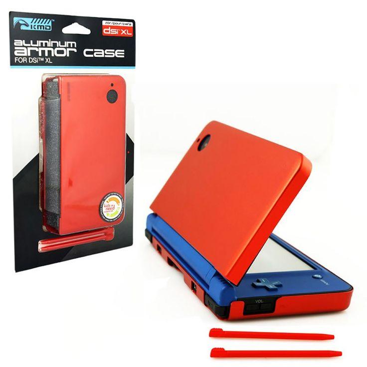 Fire Red Aluminum Armor Case & Dual Stylus Set https://www.retrogamingstores.com/gaming-accessories/dsi-xl-case-aluminum-armor-case-dual-stylus-set-fire-red-kmd-komodo  Protect you Nintendo DSi XL with 100% aluminum armor! Includes also 2 stylus pens.