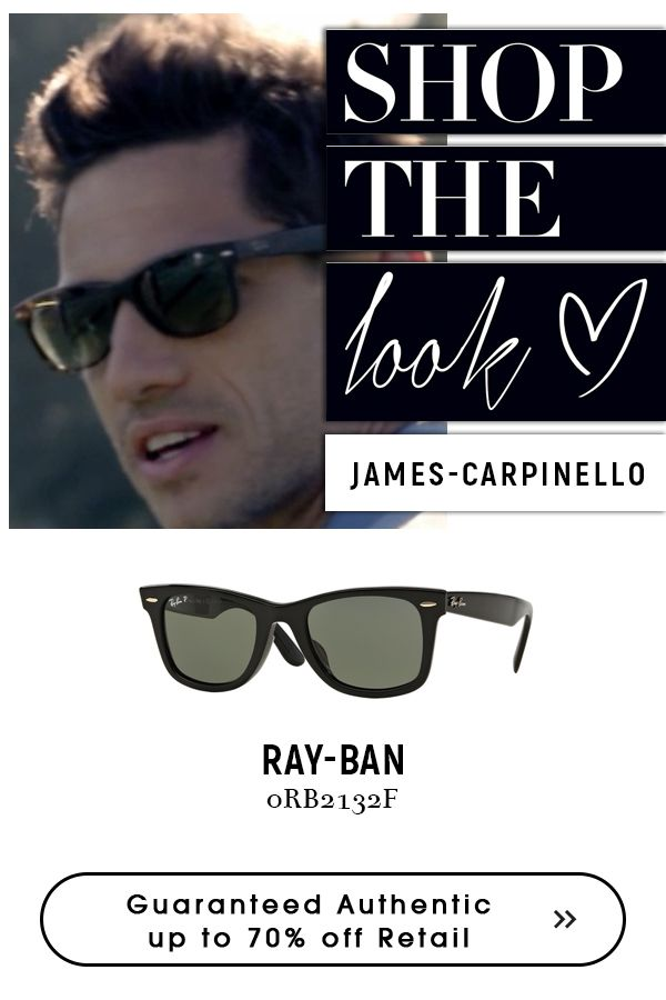 James Carpinello with new #rayban #sunglasses. #Superdeals on #rayban #sunglasses for #men #wayfarer @eyeglasses123. hurry!!