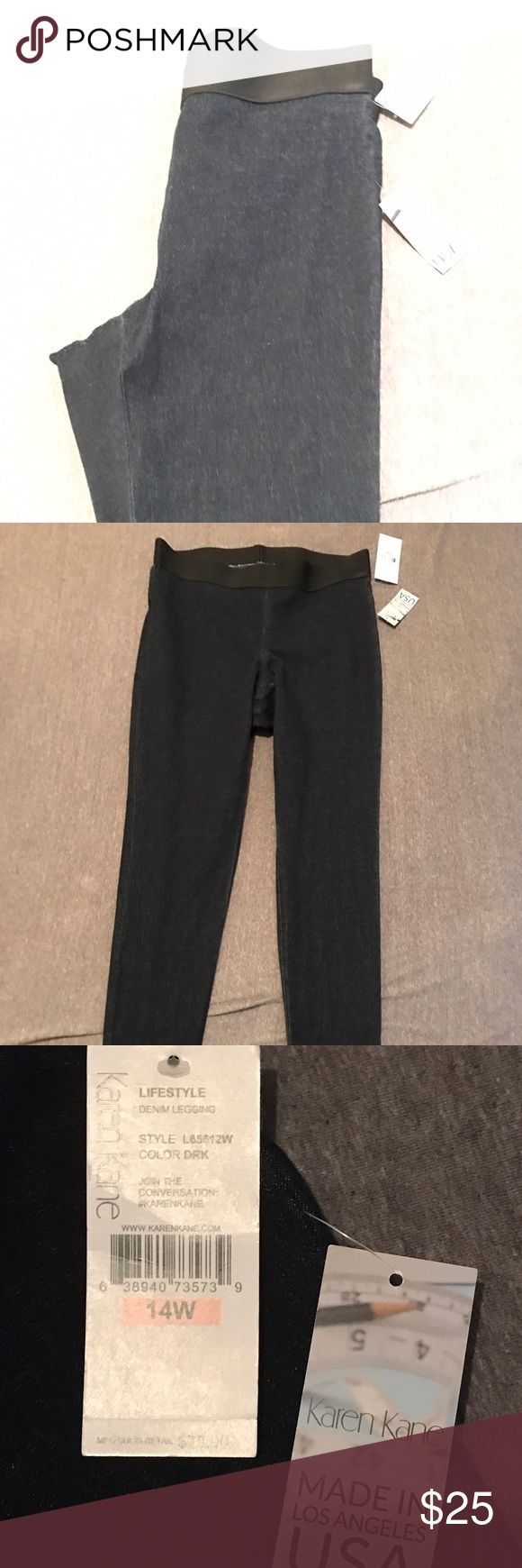 Women's Jeggings Karen Kane brand new never worn dark denim jeggings elastic waistband Karen Kane Jeans Skinny