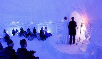 Wedding at Lainio Snow Village - get married in Lapland, Finland