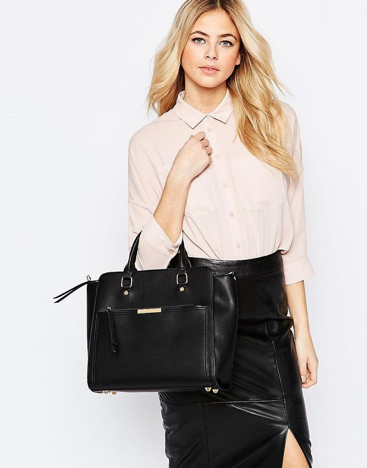 Image 3 ofOasis Tote Bag With Zip Front Pocket