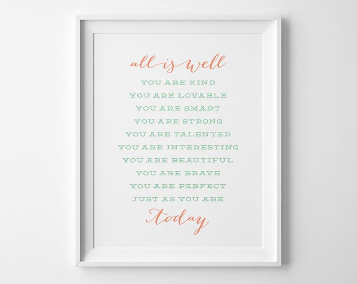 Girls Bedroom Wall Art, Typography Wall Art, Gift for Her Positive Affirmation, Coral Mint Inspirational Teen Room Decor Girls Bedroom Decor by SweetPeonyPress on Etsy https://www.etsy.com/uk/listing/205492787/girls-bedroom-wall-art-typography-wall