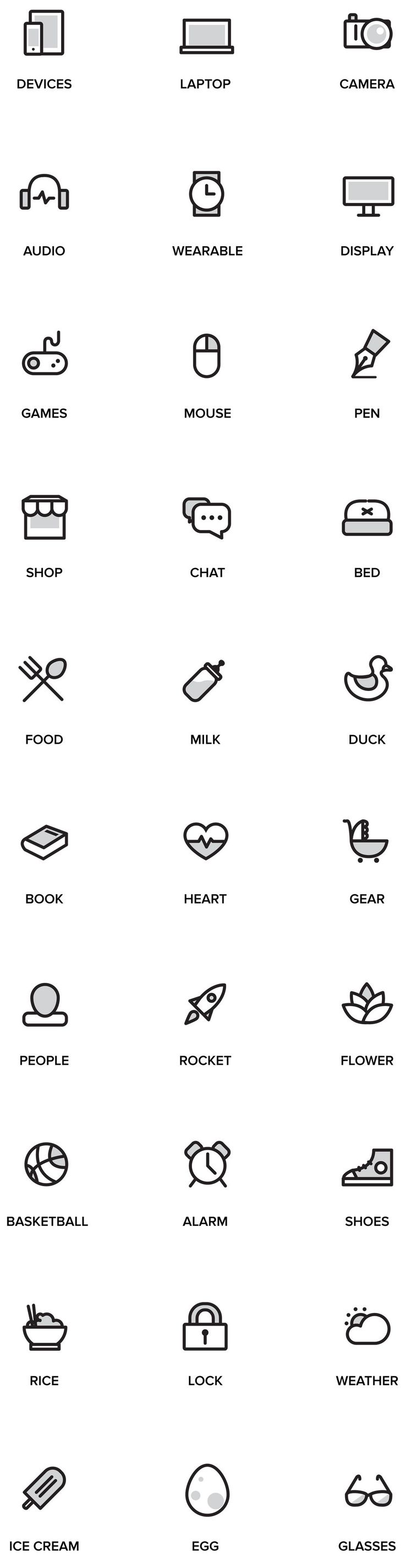 Random Stuff Free Iconset A set of 30 free outline…