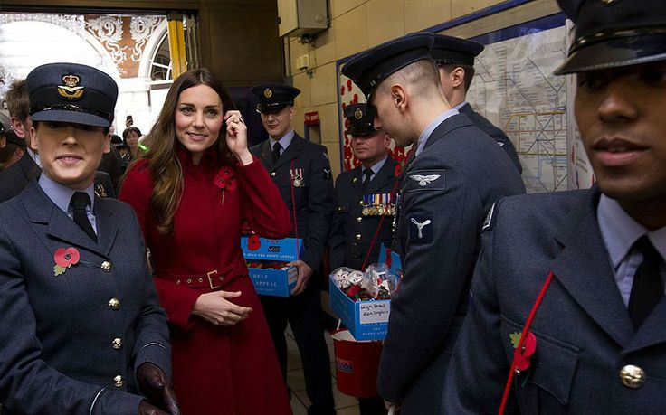 The Duchess of Cambridge meets with military personnel, staff and volunteers from the Royal British Legions London Poppy Day Appeal at Kensi...