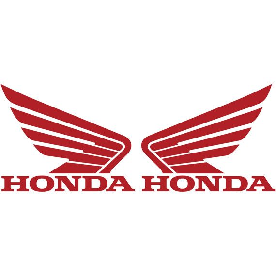 honda racing logo vector. honda wing motorcycle logo 2x car truck racing by juicydecals vector s