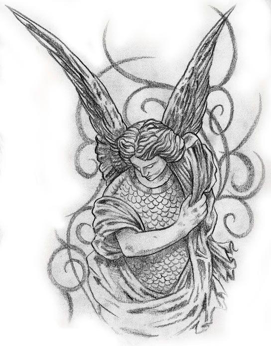 MALE ANGEL TATTOO