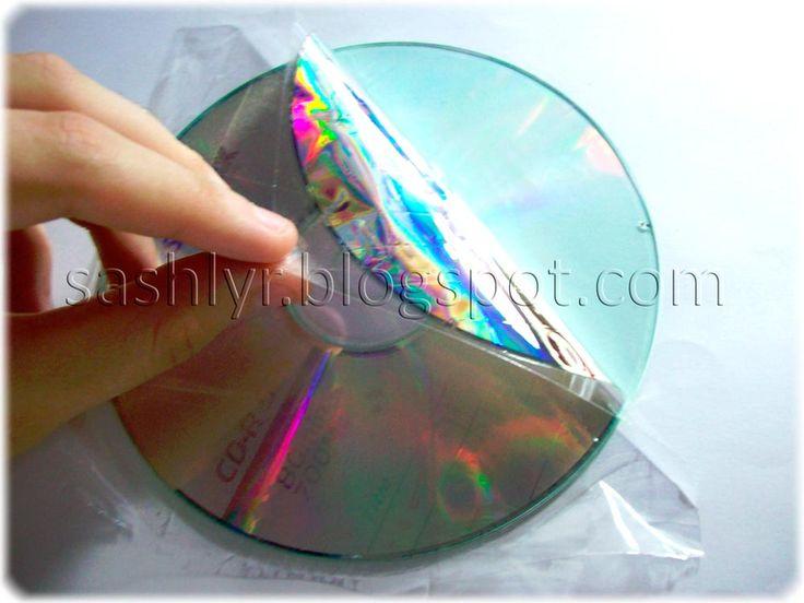 Blog colaborador:.Tutorial reciclado de CD por Sashlyr: Arte y decoración ♥♥el tocador de Cenicienta