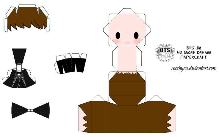 BTS Jin No More Dream Papercraft by rocchyaa.deviantart.com on @DeviantArt