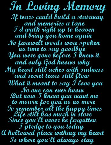 My step mom passed away today and this was very touching. Bonnie you will be missed and rest in peace.