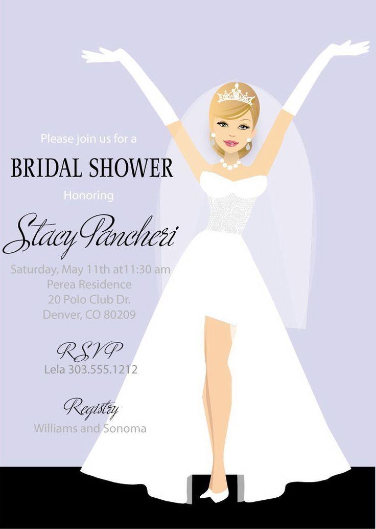 Classy Bride Bridal Shower Invitations Blonde