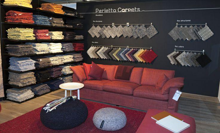Perletta Carpets Brandstore @ Co van der Horst #Poef #wol #wool #vloerkleed #carpet #rug