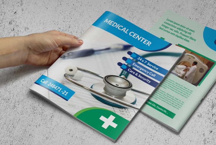 Tri Fold Medical Brochure Template  Des Have Industrial Look