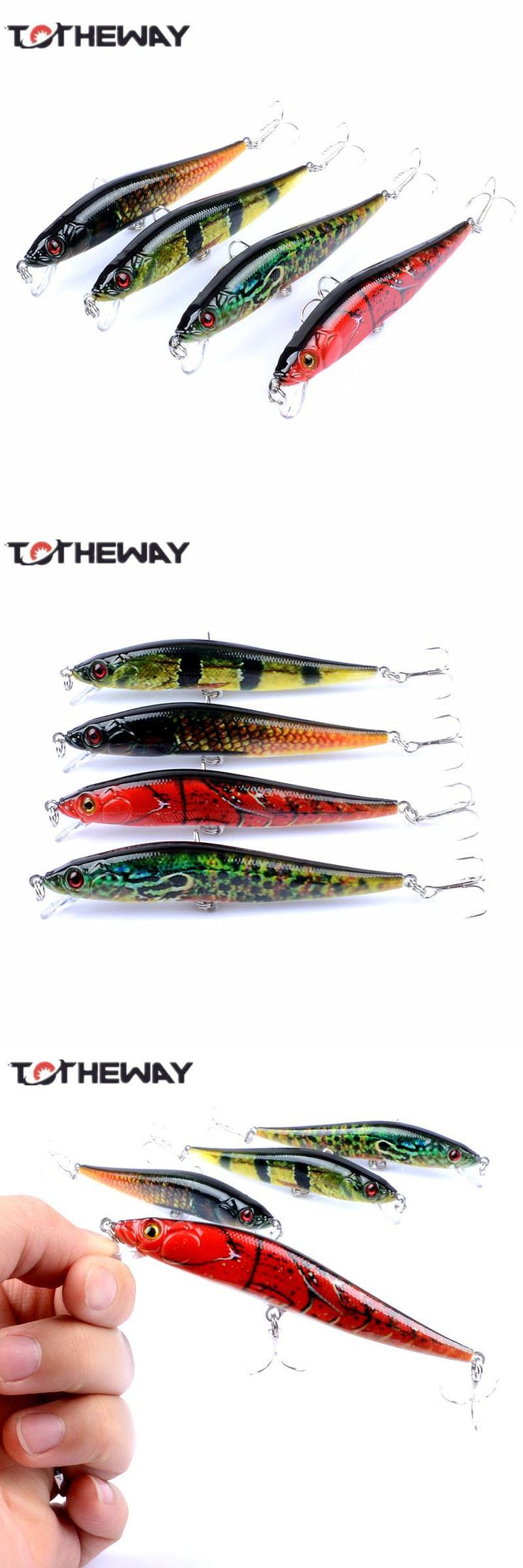 [Visit to Buy] 1PCS Lifelike 10cm 10g Minow Wobblers Hard Fishing Tackle Swim bait Crank Bait Bass Fishing Lures 4 Colors fishing tackle #Advertisement