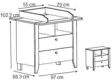 les 25 meilleures id es de la cat gorie table langer sur pinterest table langer b b. Black Bedroom Furniture Sets. Home Design Ideas