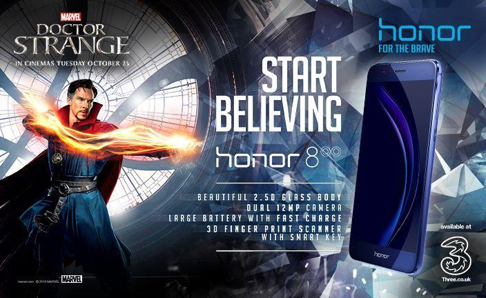 Honor et Marvel présentent une édition spéciale Doctor Strange du Honor 8 à l'occasion de la sortie du film attendu dans les salles pour le 25 octobre.
